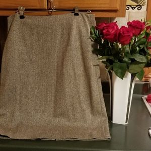 Ann Taylor Loft knee length brown Tweed skirt